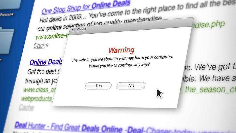 website warning