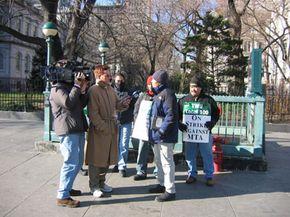 TWU Local 100 strikers in New York, December 2005