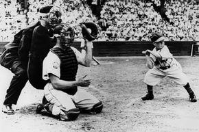 Eddie Gaedel, standing only 3 feet 7 inches, takes a ball as he bats during a game on August 18, 1951 in St. Louis, Mo. See more sports pictures.