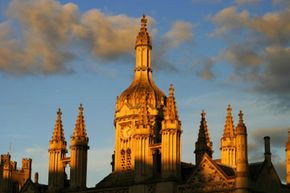 Students can study abroad practically anywhere, like King's College, Cambridge in England. See more college pictures.