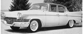 Styling for the 1958 Studebakers, such as this Commander, was done on a tight budget -- and it showed.