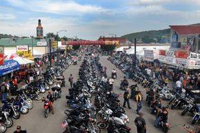 Motorcycle Image Gallery The Main Street of Sturgis, S.D., is packed with people and motorcycles as the 69th annual Sturgis Motorcycle Rally reached its midpoint on Aug. 6, 2009. See more pictures of motorcycles.
