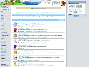 The forums on Subeta are very active.