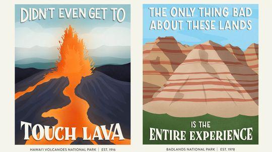 Hilarious Posters Poke Fun at Bad National Park Reviews