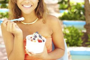 If adding a little sugar to your unsweetened yogurt and fruit makes you more likely to eat it, go for it.