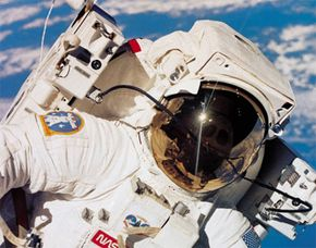 The elements in space will kill you within seconds. See more space suit images.