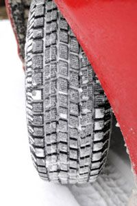 Snow tires are heavy. When winter's over, swap them for lighter all-season tires.