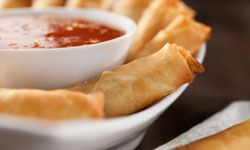 Think of spring during the summer with some refreshing spring rolls.