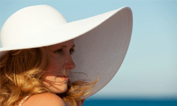 When all else fails, pull out a sunhat!