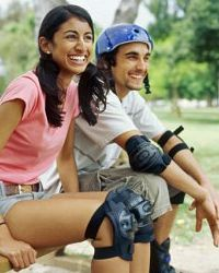 Don't forget your safety gear when you head to the park with your rollerblades or bike.