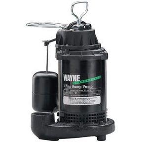 A Wayne 1/3 horsepower submersible sump pump.
