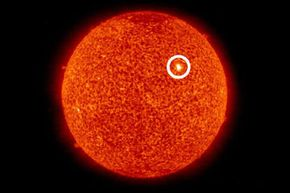 After many weeks of a blank sun with no sunspots, a small new sunspot emerged on Sept. 23, 2008, marking a new solar cycle.