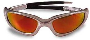 These Oakleys are highly reflective sunglasses.