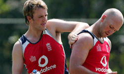 These cricketers for England know how to protect their skin from the Sri Lankan sun. See more sport pictures.