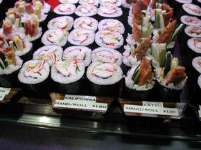 Maki zushi for sale. See more pictures of international snacks.