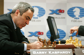 In 2003, Garry Kasparov once again tested his mettle against a chess supercomputer, Deep Junior. The contest ended in a 3-3 draw.