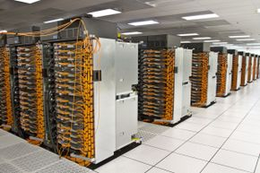 Sequoia's gray and orange color scheme may remind you of Halloween, but it's the 96 racks of chips that should really command attention.