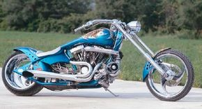 Supercharged is a custom chopper with both a supercharger and nitrous oxide injection.