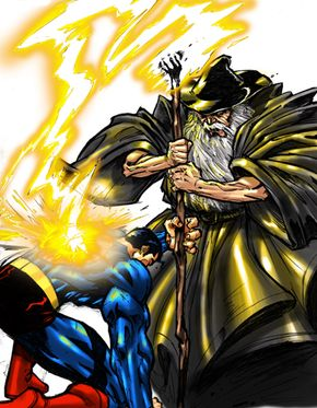 Can Gandalf destroy Superman with his divine power?
