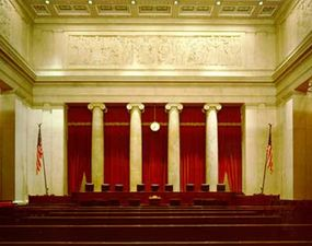 The Courtroom of the Supreme Court Building