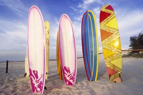 How have surfboards changed over the years? See more surfing pictures.