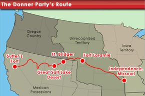 The route selected by the unfortunate Donner Party, many of whom would not live to finish it.