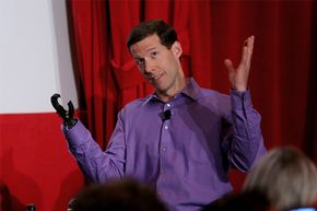 Aron Ralston (and his prosthetic hand) appeared onstage during the 'A Surreal Experience: My Life As Portrayed In Film' panel at the 2015 TCM Classic Film Festival in Los Angeles.