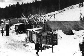 Slavomir Rawicz was sentenced to 25 years in Siberia where he was forced to build camps like this one.