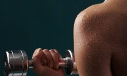 Sweat can irritate the scalp.