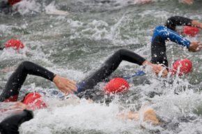 JackRabbit swim training includes open water triathlon practice.