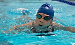 Here's a good reason to get into the pool: It may prolong your life.