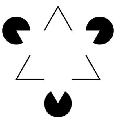 The Kanizsa triangle.