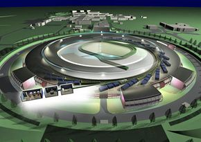 This artist's conception of the Diamond synchrotron offers