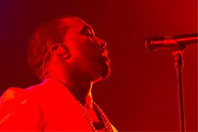 Kanye West performs during the 2011 Essence Music Festival in New Orleans, La. West is one of numerous contemporary artists like Mary J. Blige, Aphex Twin, Billy Joel and Stevie Wonder who say they see music in color.