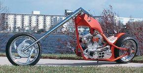The ferocious Sabre Tooth chopper is a radical machine.