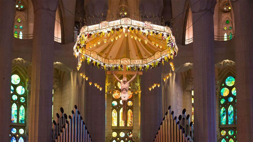 La Sagrada Familia Roman Catholic church interior