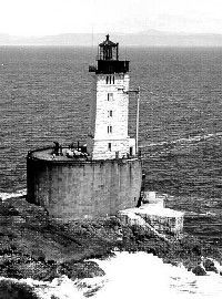 The seas are often wild around the famous St. George Reef lighthouse. At times the waves crash to the very base of the lighthouse structure. See more lighthouse pictures.