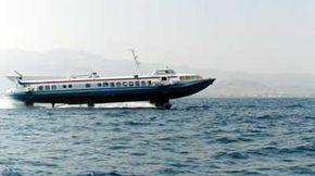A hydrofoil boat