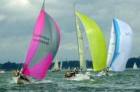 Sailing Image Gallery Yachts Jupiter, Vampire and Jongleur race downwind. See more pictures of sailing.