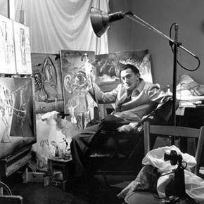 Salvador Dalí in his studio