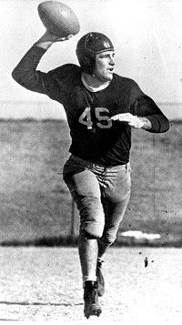 """Sammy Baugh, one of football's most accurate tossers, was dubbed """"Slingin' Sammy."""" See more pictures of football."""