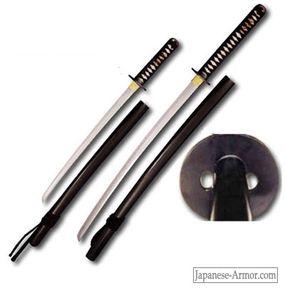 Hanwei Practical Katana (right) and Wakizashi Japanese Sword
