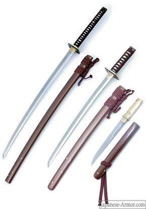 Bushido sword series, left to right: Matching katana, wakizashi and tanto
