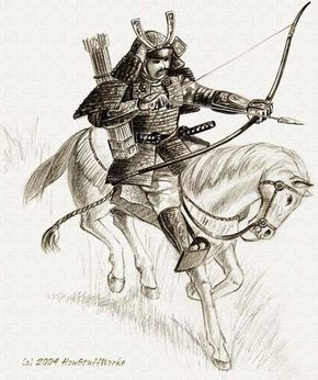 For the first few centuries of their existence, samurai were better known as horse-riding archers.
