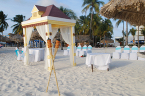 Sand ceremonies are perfect for beach weddings -- or any outdoor ceremony where a light breeze might thwart the lighting of a unity candle.