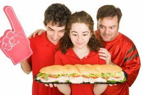 That's a pretty big sandwich, but it's definitely not the world's biggest sandwich!