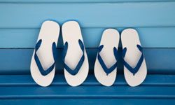 Sandals allow open air to speed healing.