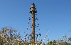 The Sanibel Island lighthouse is sturdily built to withstand the strongest of hurricanes. See more lighthouse pictures.