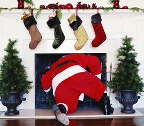 Getting stuck in the chimney never seems to happen to Santa.