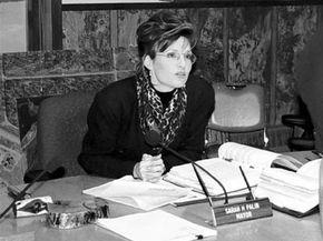 Sarah Palin, mayor of Wasilla, Alaska, in her office in 1996.